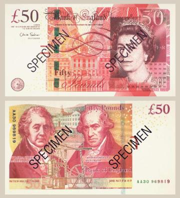 Devises retrait du billet de 50 livres sterling dition de 1994 cco change de devises en - 200 euros en livres ...