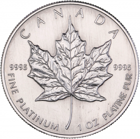 Maple Leaf (Canada) 1oz Platinum avers