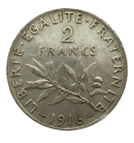 2 F Semeuse (1898-1920) ARGENT avers