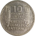 10 F Turin (1929 - 1939) ARGENT avers