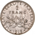 1 F Semeuse (1898-1920) ARGENT avers
