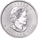 Maple Leaf (Canada) 1oz ARGENT revers