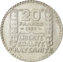 20 F Turin (1929-1939) ARGENT avers