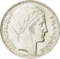 20 F Turin (1929-1939) ARGENT revers