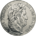5 Francs Ecu (1795-1889) ARGENT revers